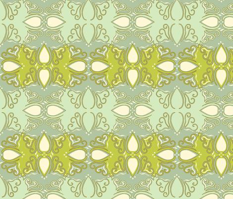 Beach Blue Cutwork Large fabric by cksstudio80 on Spoonflower - custom fabric