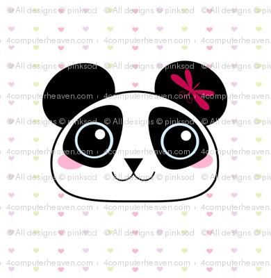 Panda Loves Dragonflies! - © PinkSodaPop 4ComputerHeaven.com