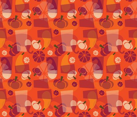 Funky Mod Gourds - punch fabric by acbeilke on Spoonflower - custom fabric