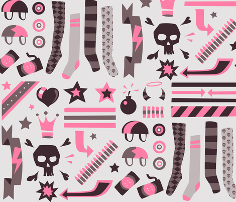 derby decals fabric by aperiodic on Spoonflower - custom fabric