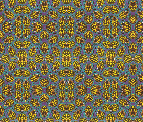 Beetle Gold fabric by relative_of_otis on Spoonflower - custom fabric