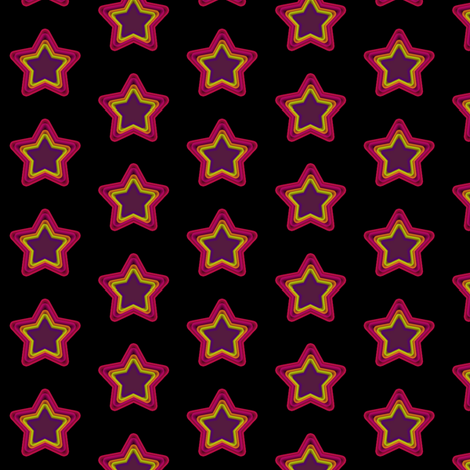 Star Shine - Drawn That Way - © PinkSodaPop 4ComputerHeaven.com  fabric by pinksodapop on Spoonflower - custom fabric