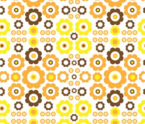 Flower Power fabric by mondaland on Spoonflower - custom fabric