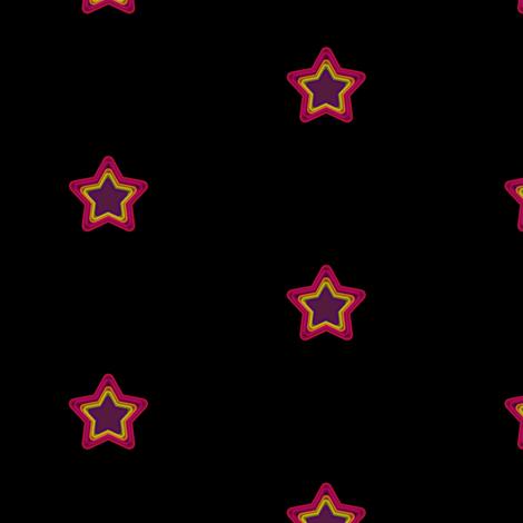 Star Shine Wide Open - Drawn That Way - © PinkSodaPop 4ComputerHeaven.com fabric by pinksodapop on Spoonflower - custom fabric