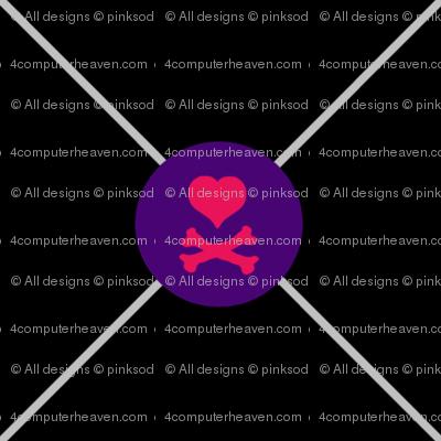 Heart Skull Net - Drawn That Way - © PinkSodaPop 4ComputerHeaven.com