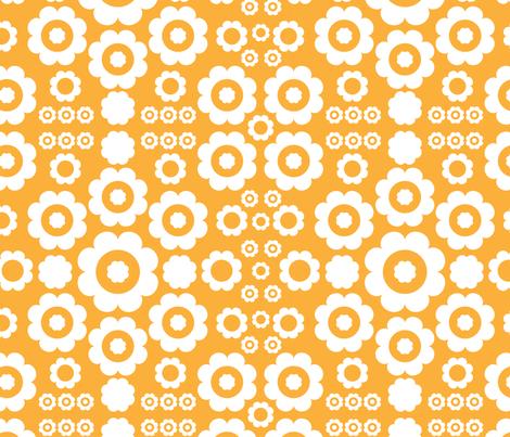 Flower Power (Orange 1) fabric by mondaland on Spoonflower - custom fabric