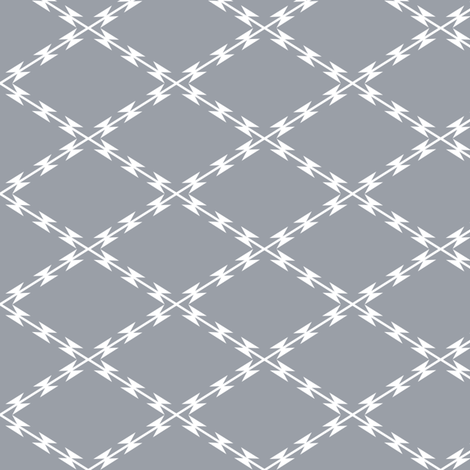 RAZOR WIRE TRELLIS in STAINLESS fabric by trcreative on Spoonflower - custom fabric