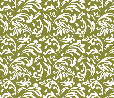 DeconstructedDamaskNeutralGreen fabric by nikkibutlerdesign on Spoonflower - custom fabric