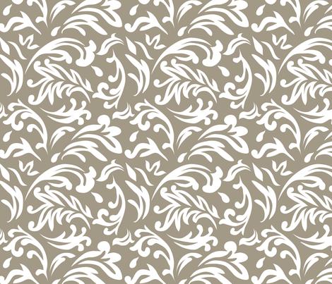 DeconstructedDamaskNeutralGreige fabric by nikkibutlerdesign on Spoonflower - custom fabric