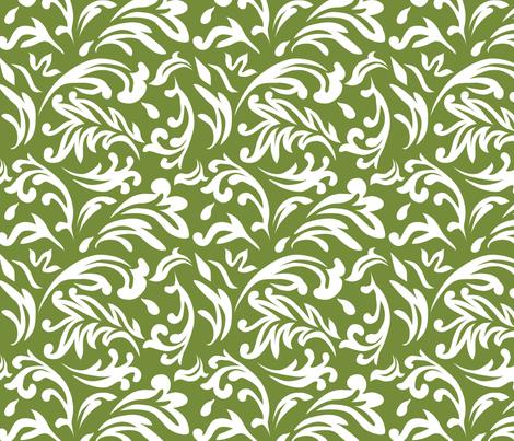 DeconstructedDamaskBrightGreen fabric by nikkibutlerdesign on Spoonflower - custom fabric