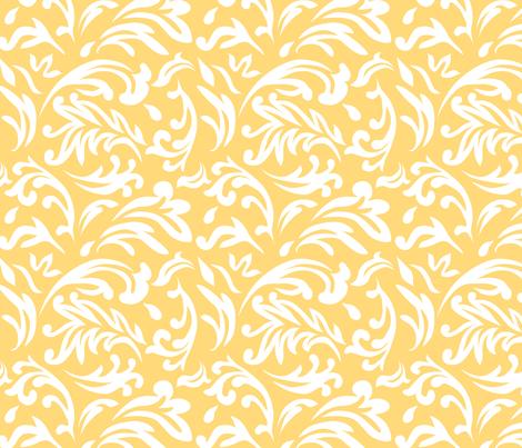 DeconstructedDamaskBrightYellow fabric by nikkibutlerdesign on Spoonflower - custom fabric