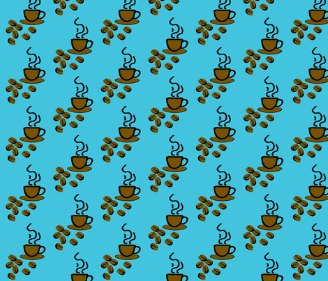 coffeefabric-3 fabric by craftinomicon on Spoonflower - custom fabric