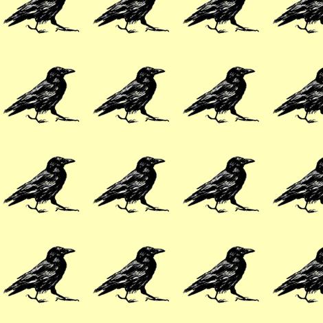 mr crow fabric by dreamskyart on Spoonflower - custom fabric