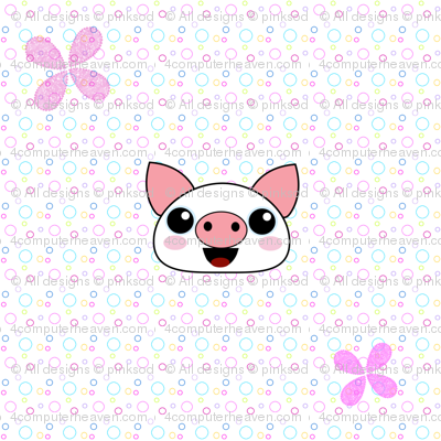 Piggydots! - Baby Animal Faces - © PinkSodaPop 4ComputerHeaven.com