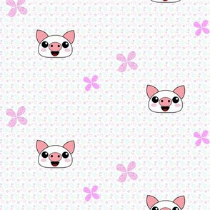 Piggydots! - Baby Animal Faces - © PinkSodaPop 4ComputerHeaven.com