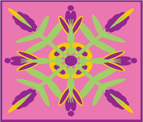 Hawaiian Quilt Test Pattern fabric by nezumiworld on Spoonflower - custom fabric