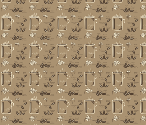 Coffee-3-Brown fabric by petals_fair_(peggy_brown) on Spoonflower - custom fabric