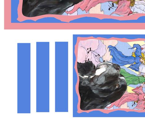 Newfoundland dog Angels Christmas Yard flag Fabric to sew fabric by dogdaze_ on Spoonflower - custom fabric