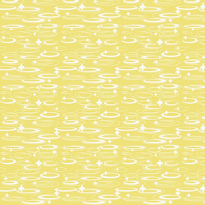 Ovals & Stars/yellow & white
