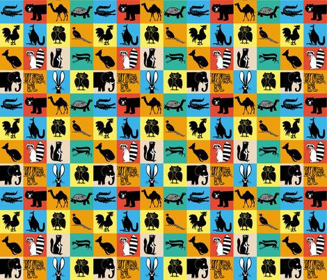 Brookdale Animals fabric by pkfridley on Spoonflower - custom fabric