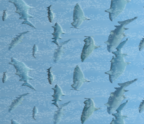 Sharks in Open Waters fabric by nezumiworld on Spoonflower - custom fabric