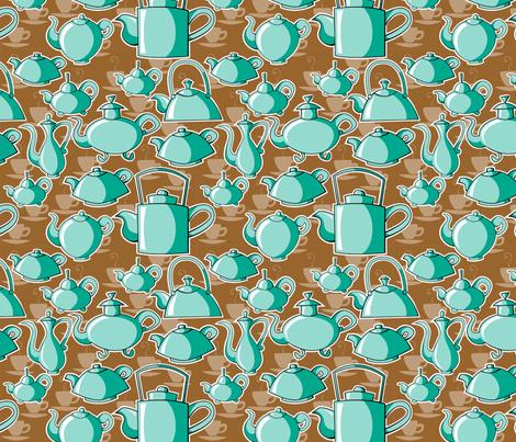 teapots fabric by tessiegirldesigns on Spoonflower - custom fabric