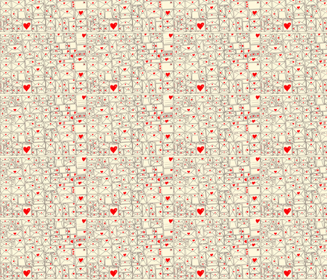 love_letters-ed fabric by mimi&me on Spoonflower - custom fabric