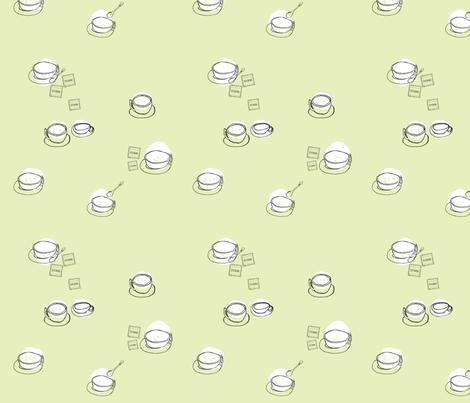 Caffe Lungo Macchiato fabric by karenvranken on Spoonflower - custom fabric