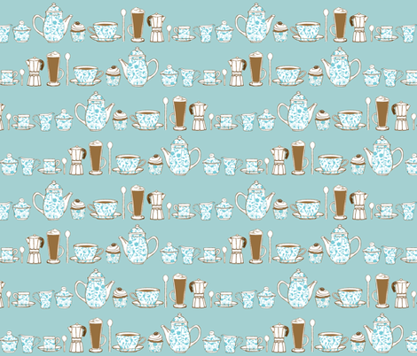 Coffee Culture plain background fabric by jasmo on Spoonflower - custom fabric