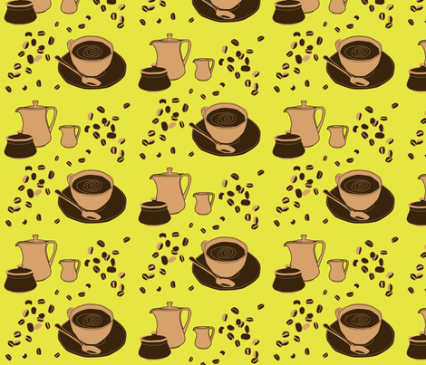 coffee_time fabric by celestine on Spoonflower - custom fabric