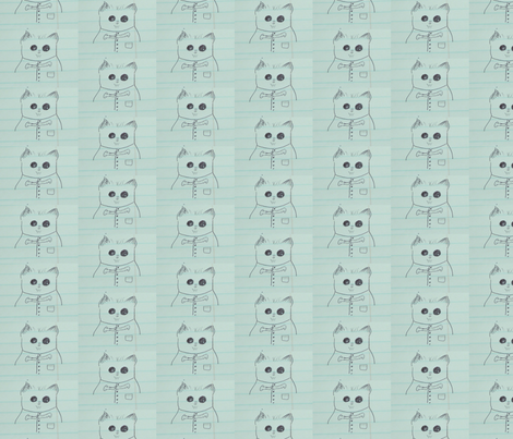 Hamster Wearing Vest fabric by margaretdaniero on Spoonflower - custom fabric