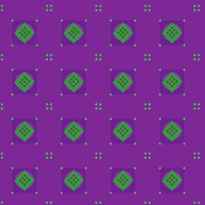 petite purple diamond doodles