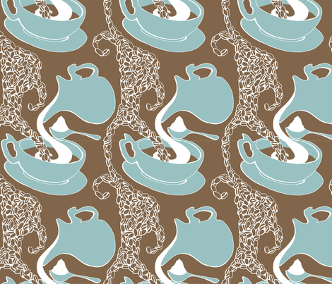 café au lait fabric by crembrulaa on Spoonflower - custom fabric