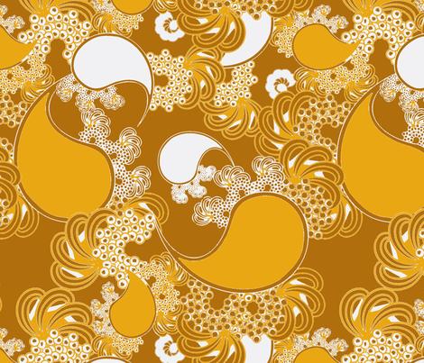 Golden Paisley fabric by joanmclemore on Spoonflower - custom fabric