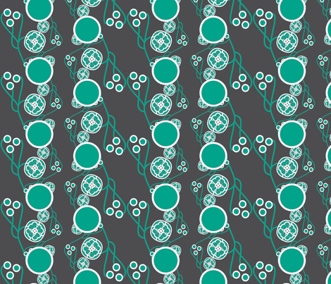 Organic Dots Teal fabric by joanmclemore on Spoonflower - custom fabric