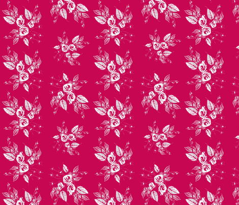 Roses White and Red fabric by joanmclemore on Spoonflower - custom fabric