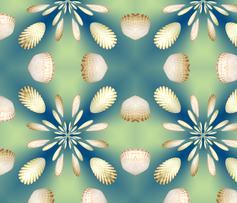 3d Floral Scallops Design, L fabric by animotaxis on Spoonflower - custom fabric