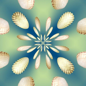 3d Floral Scallops Design, L