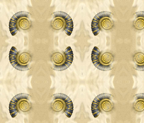 Ammonite, L fabric by animotaxis on Spoonflower - custom fabric