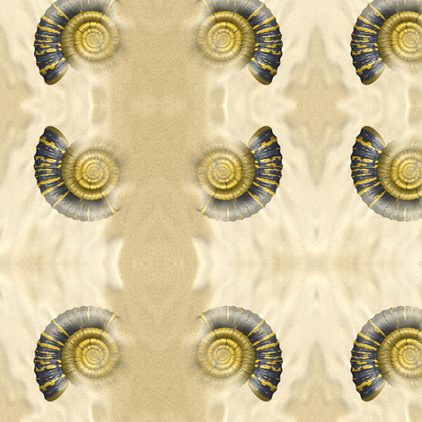 Ammonite, S fabric by animotaxis on Spoonflower - custom fabric