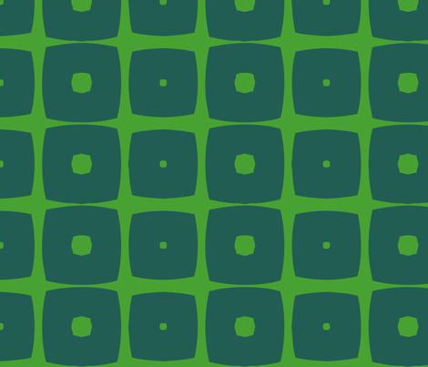 Cubes B (Green) fabric by nekineko on Spoonflower - custom fabric