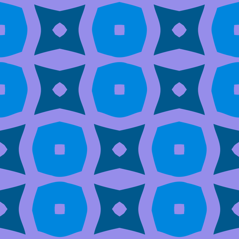 Donuts B (Blue) fabric by nekineko on Spoonflower - custom fabric