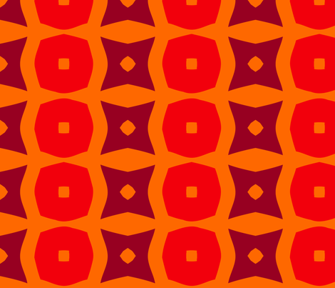 Donuts B (Orange) fabric by nekineko on Spoonflower - custom fabric