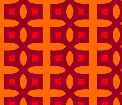 Stitches B (Orange) fabric by nekineko on Spoonflower - custom fabric