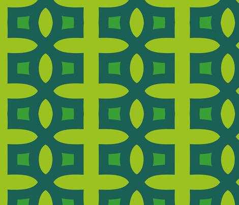 Stitches B (Green) fabric by nekineko on Spoonflower - custom fabric