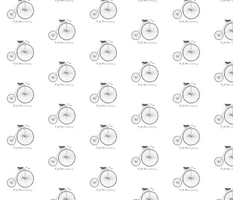 Penny-Farthing Bicycle fabric by tamarack on Spoonflower - custom fabric