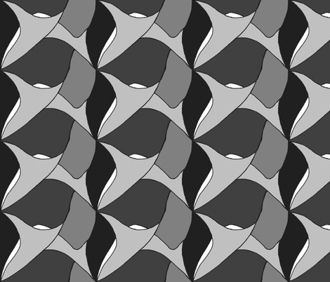 sharks_tooth_grey fabric by wiccked on Spoonflower - custom fabric