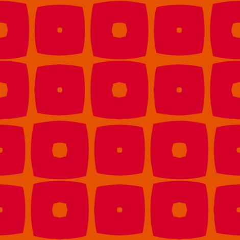 Cubes C (Orange) fabric by nekineko on Spoonflower - custom fabric
