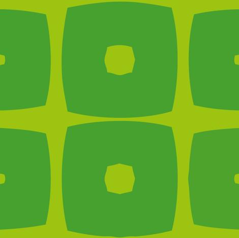 Cubes C (Green) fabric by nekineko on Spoonflower - custom fabric