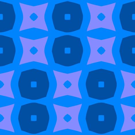 Donuts C (Blue) fabric by nekineko on Spoonflower - custom fabric